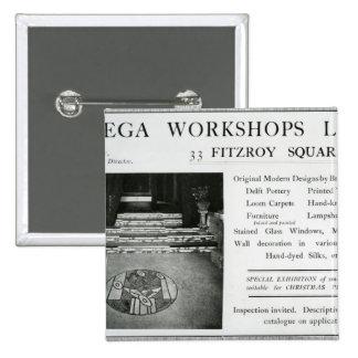 Adverisement for the Omega Workshops Ltd Pinback Button