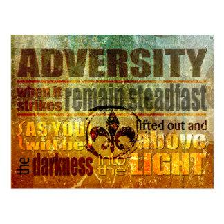 Adversity Postcard