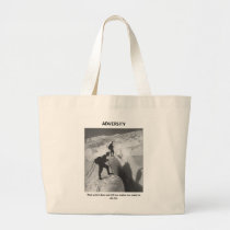 adversity-that-which-does-not-kill-me-makes-me large tote bag