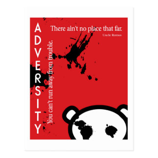 Adversity ~ Uncle Remus Quotation Postcard