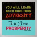 "Adversity vs Prosperity ~ Poster 12""x12"""