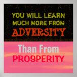 "Adversity vs Prosperity ~ Poster 24""x24"""