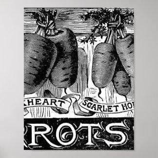 Advert 4 vintage carrots poster