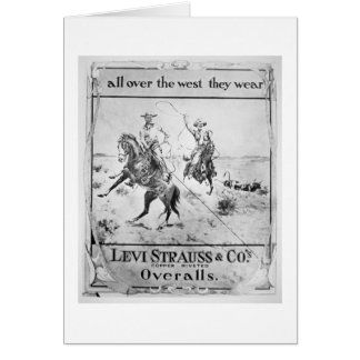 Advert for Levi Strauss & Co, c.1900 (litho) Greeting Card