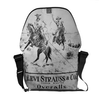 Advert for Levi Strauss & Co, c.1900 (litho) Messenger Bag
