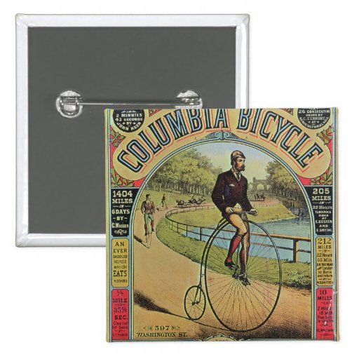 Advert for the Columbia Bicycle Button