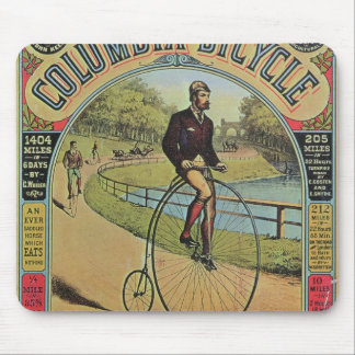Advert for the Columbia Bicycle Mouse Pad