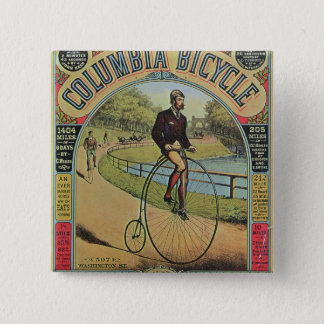 Advert for the Columbia Bicycle Pinback Button