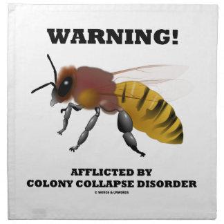 ¡Advertencia! Afligido por desorden del hundimient Servilleta Imprimida