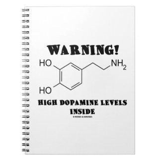 ¡Advertencia! Altos niveles de la dopamina dentro Libretas