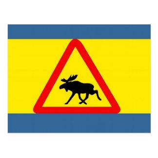 Advertencia antes del alce tarjetas postales