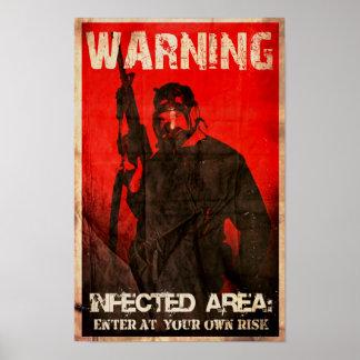 ADVERTENCIA: ÁREA INFECTADA IMPRESIONES