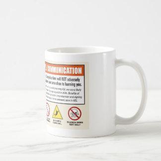 ¡Advertencia! ASL solamente. Voces de la taza