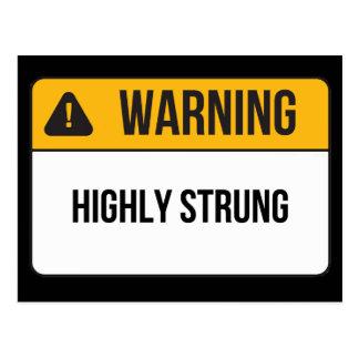 Advertencia - atada altamente postal