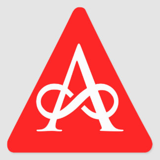 ¡Advertencia! ¡Ateo! Pegatina Triangular
