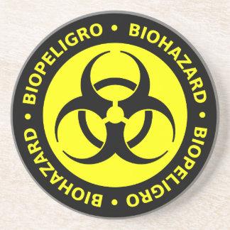 Advertencia bilingüe del Biohazard Posavasos Personalizados