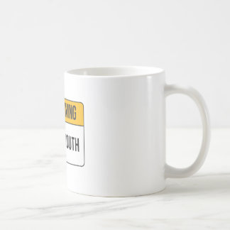 Advertencia - boca insignificante taza clásica