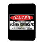 Advertencia - brote del zombi imanes flexibles