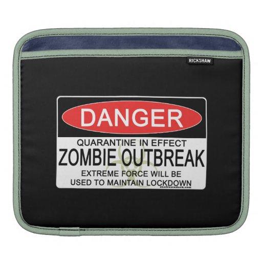 Advertencia - brote del zombi manga de iPad