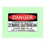 Advertencia - brote del zombi postal