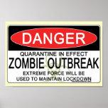 Advertencia - brote del zombi poster
