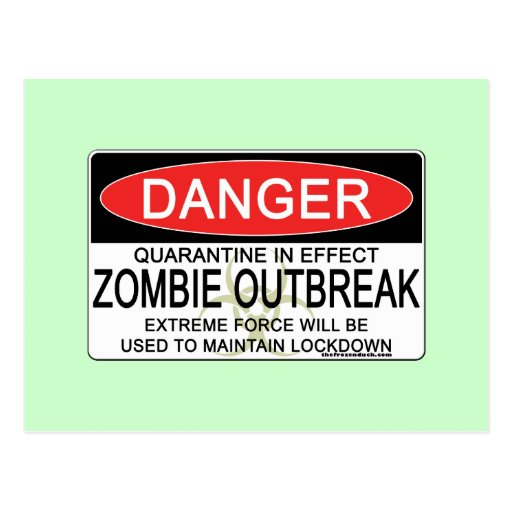 Advertencia - brote del zombi tarjeta postal