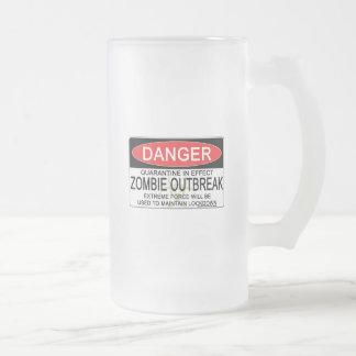 Advertencia - brote del zombi tazas