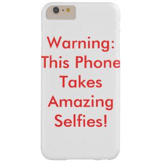 Advertencia: Caso de Selfies que sorprende Funda De iPhone 6 Plus Barely There