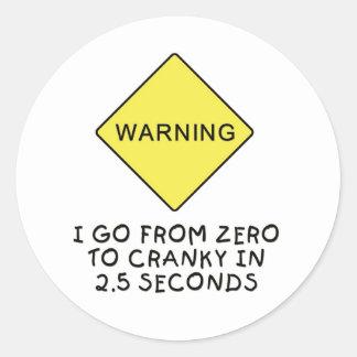 advertencia Cero-a-irritable Etiquetas Redondas