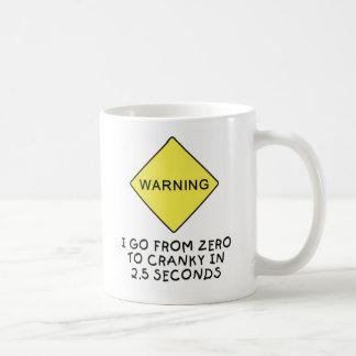 advertencia Cero-a-irritable Taza Clásica