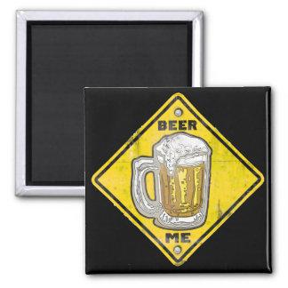 Advertencia: Cerveza yo Imán Cuadrado