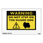 Advertencia chistosa del perro guardián de