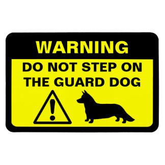 Advertencia chistosa del perro guardián del Corgi  Iman De Vinilo