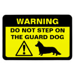 Advertencia chistosa del perro guardián del Corgi  Imán Foto Rectangular