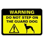 Advertencia chistosa del perro guardián del galgo  imanes de vinilo