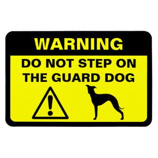 Advertencia chistosa del perro guardián del galgo  imán de vinilo