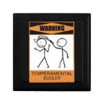 ¡Advertencia! Clarín temperamental Caja De Joyas