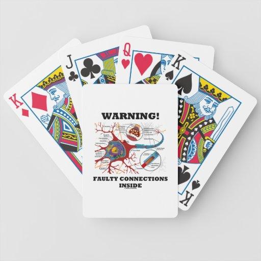 ¡Advertencia! Conexiones culpables dentro de la Baraja Cartas De Poker