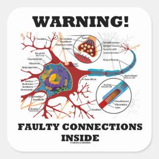¡Advertencia! Conexiones culpables dentro de la Pegatina Cuadradas
