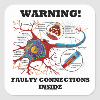 ¡Advertencia! Conexiones culpables dentro de la Pegatina Cuadrada