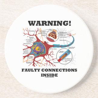 ¡Advertencia! Conexiones culpables dentro de la si Posavasos Personalizados