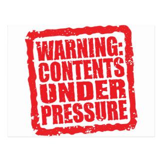 Advertencia: Contenido bajo sello de la presión Postal