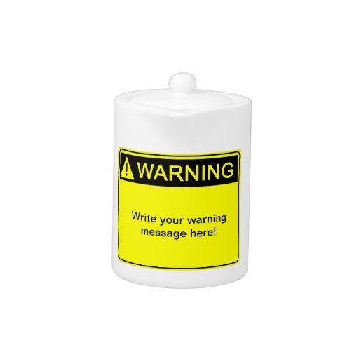 ¡Advertencia! ¡- Cree su etiqueta de advertencia d