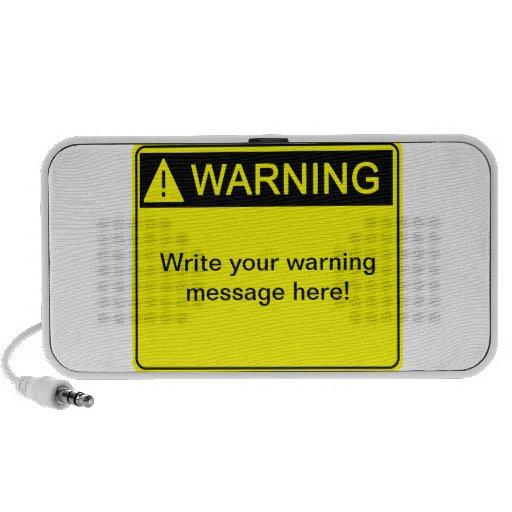 ¡Advertencia! ¡- Cree su etiqueta de advertencia d iPod Altavoces