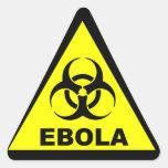 Advertencia de Ebola Pegatina Triangular
