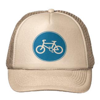 Advertencia de la bicicleta gorro de camionero