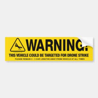 Advertencia de la huelga del abejón pegatina para coche