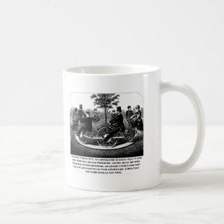 Advertencia de la montaña rusa taza de café