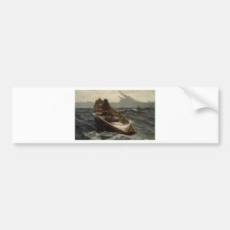 Advertencia de la niebla de Winslow Homer Pegatina Para Auto