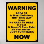Advertencia de la parodia del ~ del área 51 posters